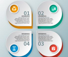 Banner option infographic creative template vector 02