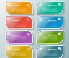 Banner option infographic creative template vector 03