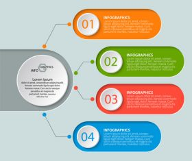Banner option infographic creative template vector 05