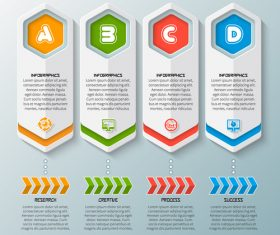 Banner option infographic creative template vector 07