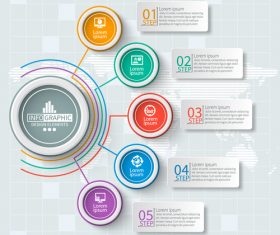 Banner option infographic creative template vector 09