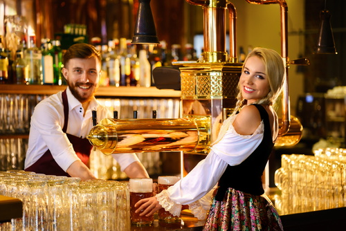Bar waiter Stock Photo 01