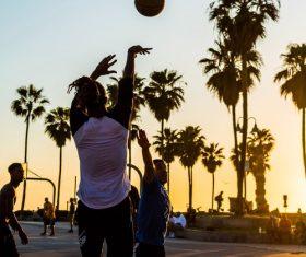 Basketball standard shooting action Stock Photo