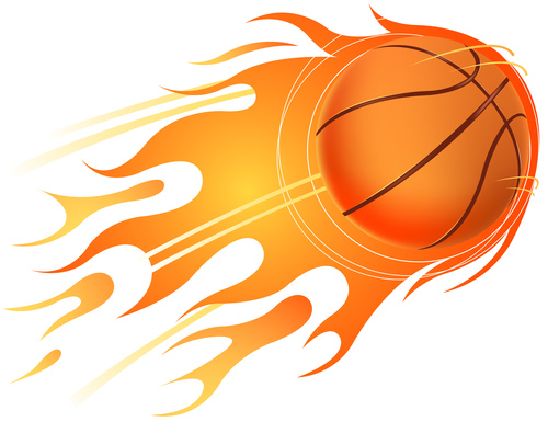 Basketball With Fire Flame Vector 02 Free Download
