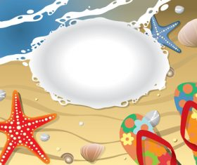 Beach with sea and travel design vector