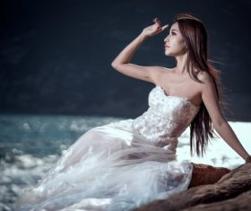Beautiful Asian girl art photo Stock Photo