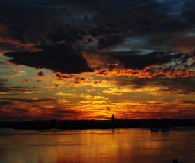 Beautiful Sunset glow Stock Photo