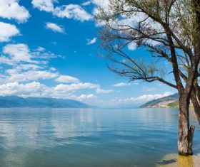 Beautiful calm lake scenery Stock Photo