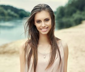 Beautiful teen girl Stock Photo 02