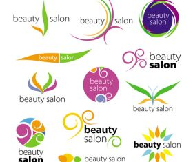 Beauty logos design vector set 01