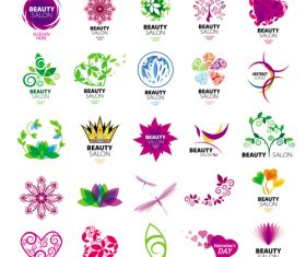 Beauty logos design vector set 02