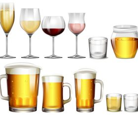 Beer with wine design vector