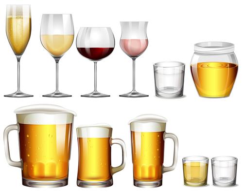 Beer with wine design vector
