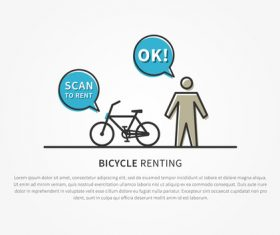 Bicycle renting app design vector 01
