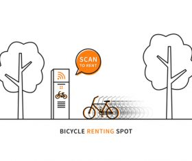 Bicycle renting app design vector 02