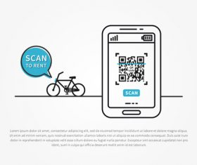 Bicycle renting app design vector 03