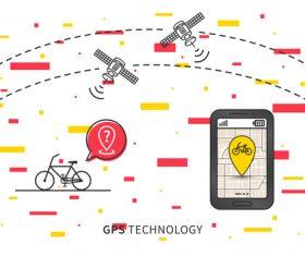 Bicycle renting app design vector 05