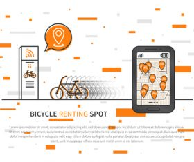 Bicycle renting app design vector 07