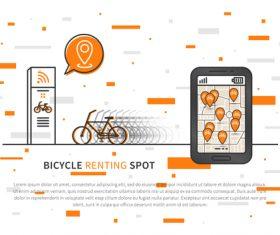 Bicycle renting app design vector 07