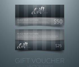 Black gift vouchers card template vector 03
