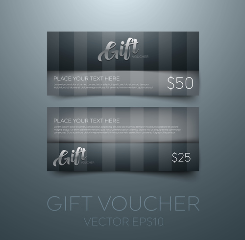 Blue gift vouchers template vector 03 free download