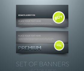 Black gift vouchers card template vector 05