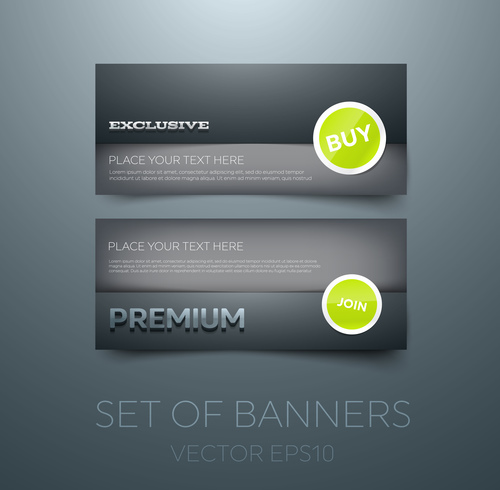 Black gift vouchers card template vector 05