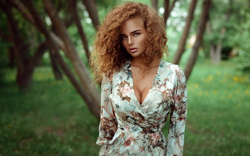 Blonde and blonde model beauty Stock Photo