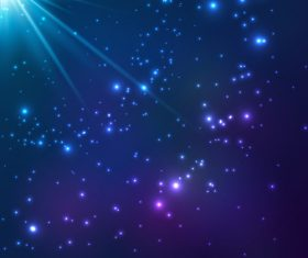 Blue cosmic vector background 01