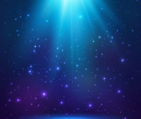 Blue cosmic vector background 02