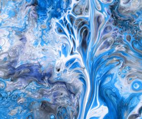 Blue liquid Marbling Painting Stock Photo 02
