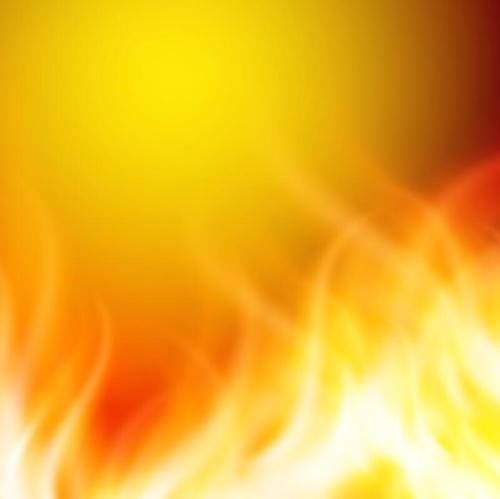 Blurs fire flame background vector