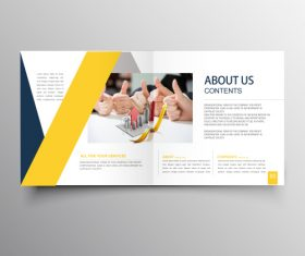 Brochure template vector layout design 4