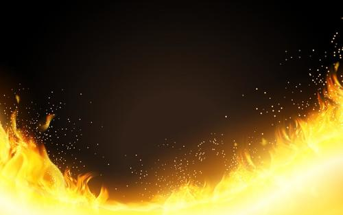 Burning fire flame background vectors 01