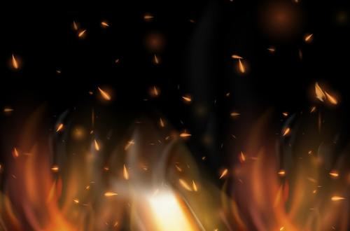 Burning fire flame background vectors 02