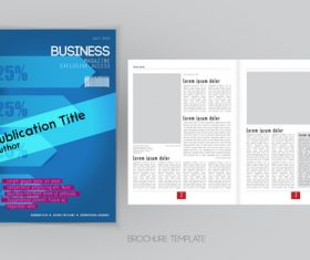 Business magazine cover with page vector template 02