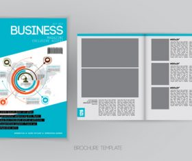 Business magazine cover with page vector template 05