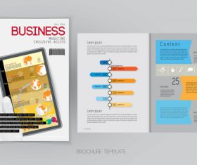 Business magazine cover with page vector template 08