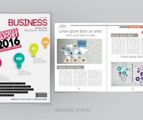 Business magazine cover with page vector template 09