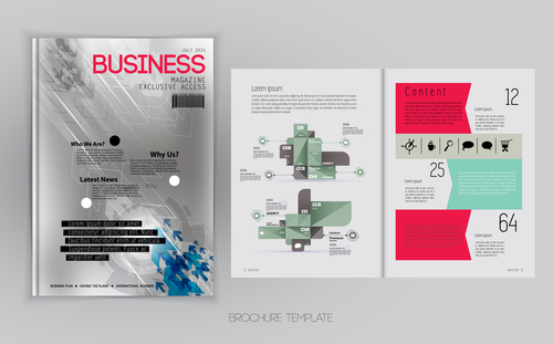 Business Magazine Cover With Page Vector Template 11 Free Download