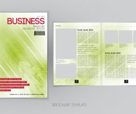 Business magazine cover with page vector template 12