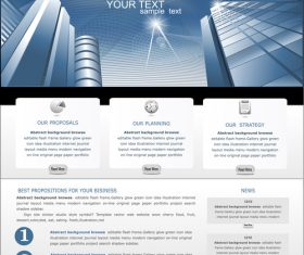 Business website template modern design vector