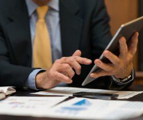 Businessman using Tablet PC Stock Photo 02