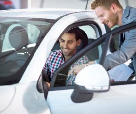 Buy new car man Stock Photo