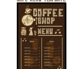 Cafe menu poster template vector 01