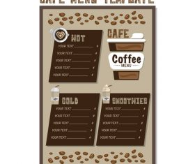 Cafe menu poster template vector 02