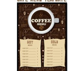 Cafe menu poster template vector 04