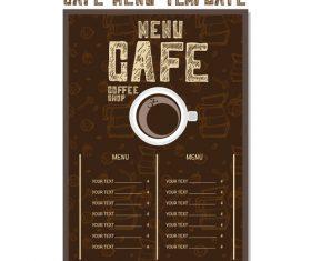 Cafe menu poster template vector 05