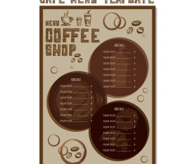 Cafe menu poster template vector 06