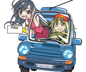 Car Beauty Q Edition Cartoon vector Design